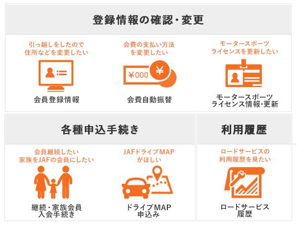 会員情報の変更(JAFマイページ)について | JAF
